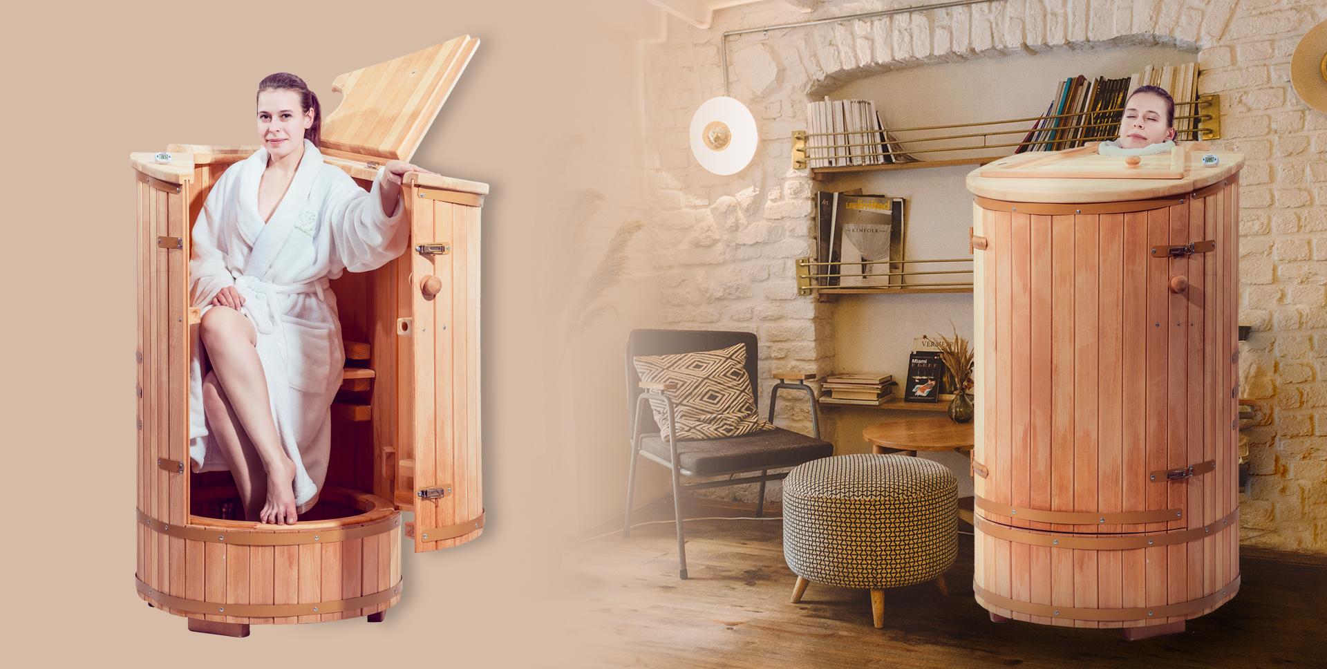 Herbalsauna, sauna umeda din lemn de cedru siberian