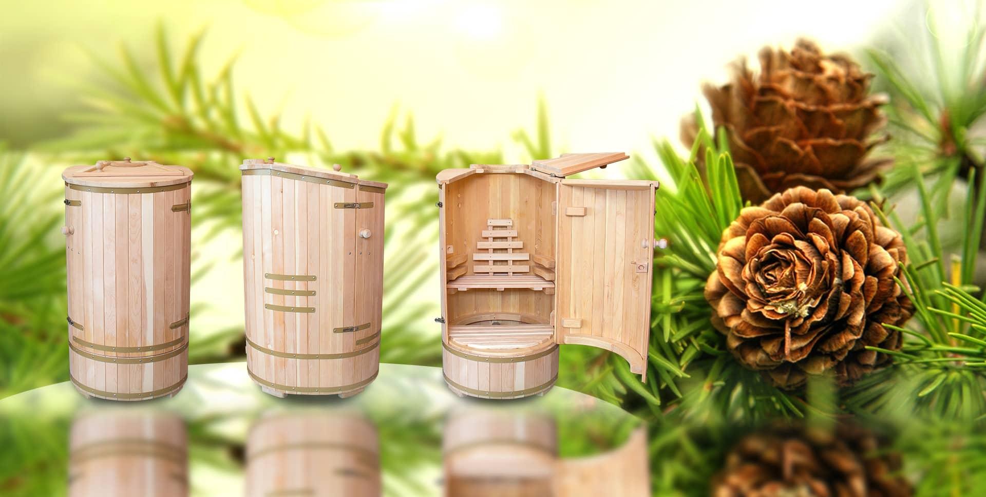 Sauna umeda din lemn de cedru